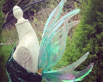 Pixie green woodland fairy wings