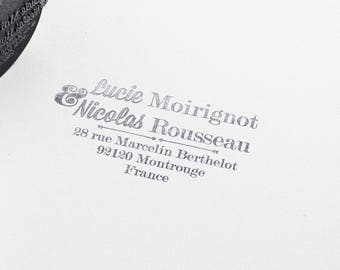 Custom Calligraphy Wedding rubber stamp, rubber stamp, Return adress wedding stamp, Custom Wedding Invitations Stamp, wedding stamp