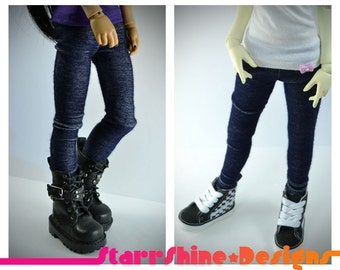 BJD MSD 1/4 Doll Clothing - Stretch Jeans Leggings