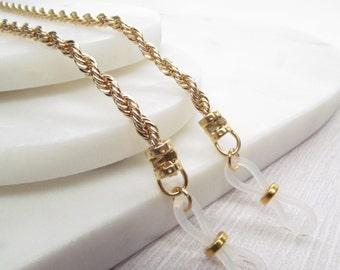 Gold Glasses Chain; Chain for Glasses; Glasses Leash; Glasses Lanyard; Reading Glasses Holder Necklace; Glasses Cord; KalxDesigns