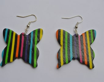rainbow Butterfly shape earrings