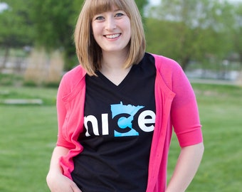 Nice Minnesota Womens Shirt, Black - Grad Gifts, Gifts for Grads, Minnesota Nice, Minnesota Gift, Minnesota Mom, Gifts for Her, Mom Gift