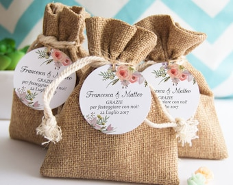 Labels Confetti, cards Thanks, Tags, labels, custom labels for Floral Wedding Favors
