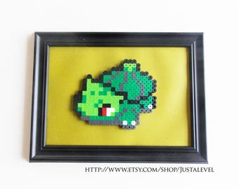 Bulbasaur (Pokemon) Framed Pixel Sprite Room Decoration Art