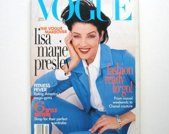 Vintage Vogue Magazine - April 1996 - Fashion magazine, Fashion Editorials, Beauty and health, Collector's item, 1990's fashion, 90's ads