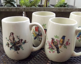 Coffee Cup, Fine China, Audubon inspired mugs, ceramic mug, morning coffee, bird watching, purchase one or the set of 5