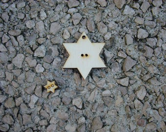 Star pendant wood 6 mm 1560 decorating tree