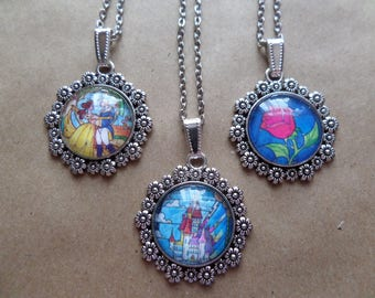 Beauty and the Beast Necklace - 3 Options