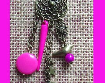 Liberty necklace btsy fuschia