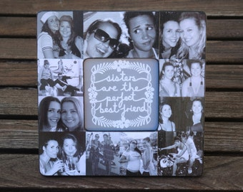 Bridesmaid Collage Picture Frame, Custom Collage Maid Of Honor Frame,  Personalized Sister Gift,