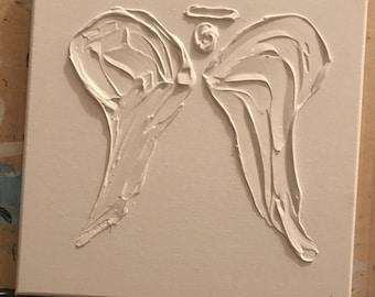 Handmade White Textured Angel