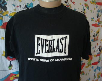 Vintage 90's Everlast Boxing Sports Drink T Shirt Sz XL