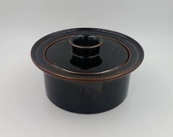 Vintage Dansk Lidded Pot Niels Refsgaard Design Stoneware Mid Century Modern Danish Pottery