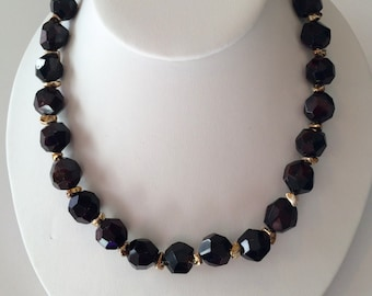 Garnet and Sterling Necklace