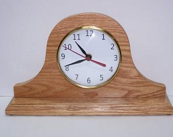 Tambour Desk Clock, Backwards clock, Reverse Clock, Custom Clock, Novelty Clock
