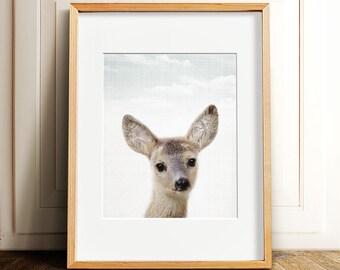 Woodland Animals nursery PRINTABLE art,fawn print,deer print,nursery wall art,nursery decor,printable decor,INSTANT DOWNLOAD
