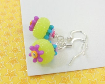 Girls Colorful Earrings   --  Calliope  --  Lime Chiller