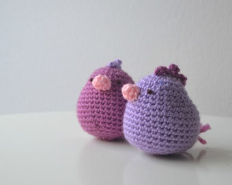 Amigurumi little chicken. Handmade crochet soft toy. Unique gift for a boy or girl baby shower. Birthday party favors.