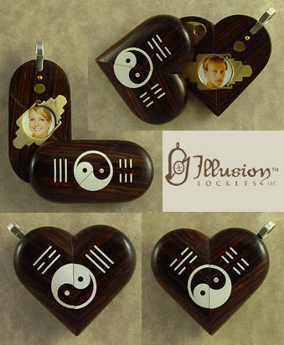 Illusionist locket 3883 magic heart yin yang hexagram by zoom aloadofball Image collections