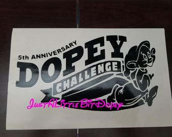 5th Anniversary Dopey Challenge decal