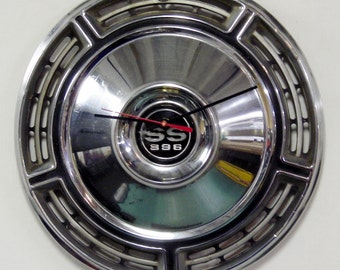 1968 Chevrolet Chevelle SS 396 Hubcap Clock - Chevy Wall Clock