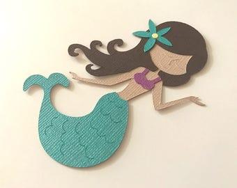 Set Of Mermaid Die Cuts, Mermaid Cutouts, Mermaid Party, Under The Sea, Mermaid Birthday
