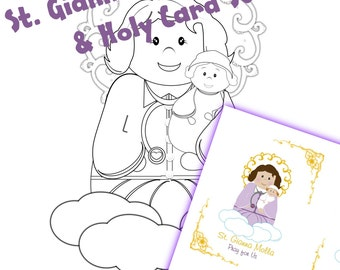 St. Gianna Coloring Page and Holy Cards