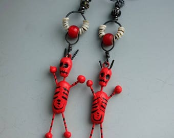 Devil Day of the Dead Earrings