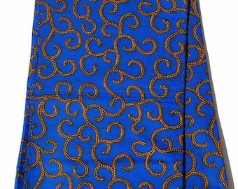 Blue African Ankara Fabric; Ankara Fabric; African Clothing; African Print; African Headwrap;Ankara Fabric in yards; African Fabric