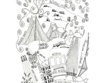 San Francisco - Collectible Print