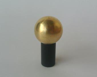 Mid Century Modern Matte Black Drawer Knob -  Matte Black Ball Pull -Brass Hardware