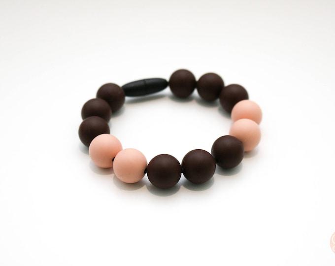 Blackcurrant Silicone Beaded Bracelet.