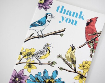 SALE -Thank You Birds Woodland greeting card - 50% off