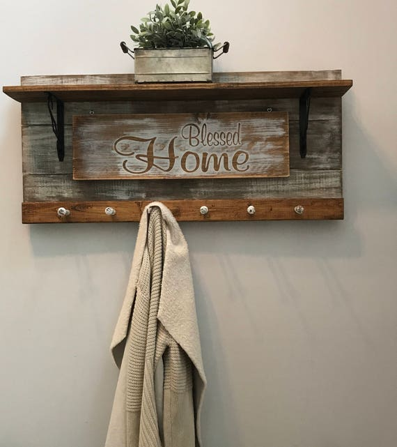 Home Decor, Home Decor Shelf, Home Decor Signs, Decorations Gifts, wall Decor, Wall Hangings, Stocking Hanger, Blessed Sign, Wood Sign