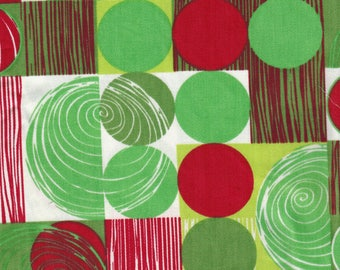 "Sale! Harmony Art Organic Fabric Space Cowboy red and green 12"" x 36"" OOP"