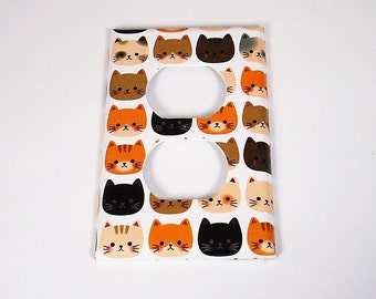 Light Switch Cover Outlet Plate Switchplate  Wall Decor Light Switch Plate in  Cool Cats (236O)