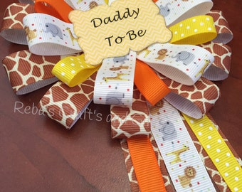 Baby Shower Pin -  Daddy To Be - Jungle, Safari, Zoo