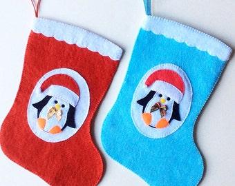 Christmas Stocking pdf Sewing Pattern, Penguin