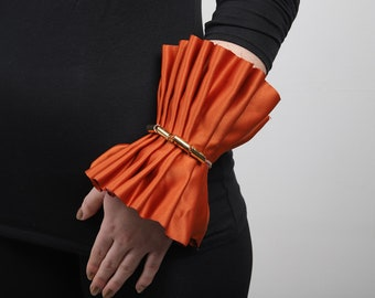 Orange Fall Pleated Cuff