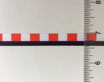 """Tommy Navy blue with red check print on grosgrain ribbon 3/8"""""""