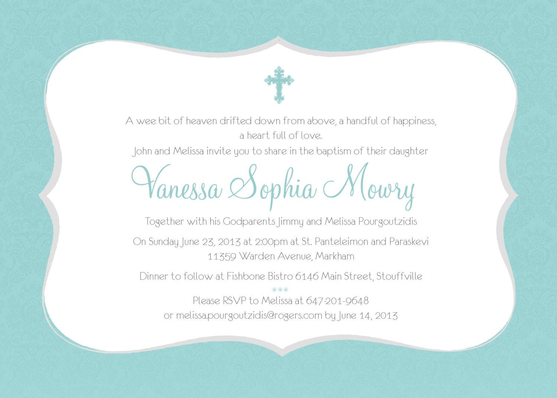 Printable Baptism Invitation Girl Baptism Invitation DIY