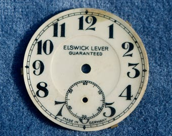 Antique Elswick Lever German Fob Watch Face