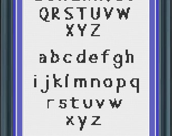 Cross Stitch Alphabet Pattern Abbie Font