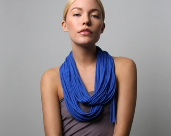Blue Scarf, Infinity Scarf, Festival, Gift for Women, Festival Clothing, Girlfriend Gift, Statement Necklace, Gift for Mom, Womens