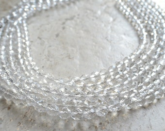 Rebecca - Clear Glass Bridesmaid Statement Necklace