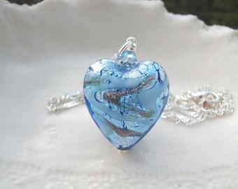 Murano Heart Necklace - Venetian Murano Glass