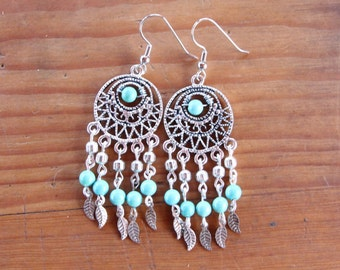 Handmade Silver Dream Catcher Earrings