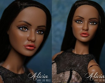 "OOAK repaint  Fashion Royalty RAYNA 12"" nude doll -- ALICIA -- Laurie Lenz"