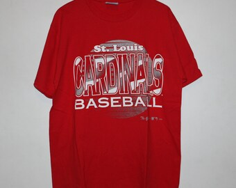 Vintage 1980s Champion St. Louis Cardinals MLB Tee L Made In USA