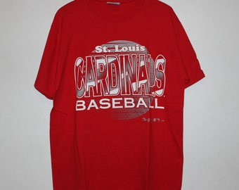 Vintage 1980s Champion St. Louis Cardinals MLB Tee L Made In USA RMKQJDaJ
